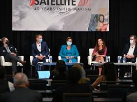 El panel sobre leyes para el Espacio - Crédito: Satellite 2021
