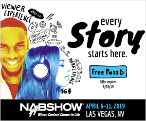 Nab Show Las vegas - April 6-11, 2019