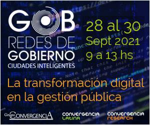 Redes de Gobierno y Ciudades Inteligentes - 28 al 30 de Septiembre - 9 a 13 hs